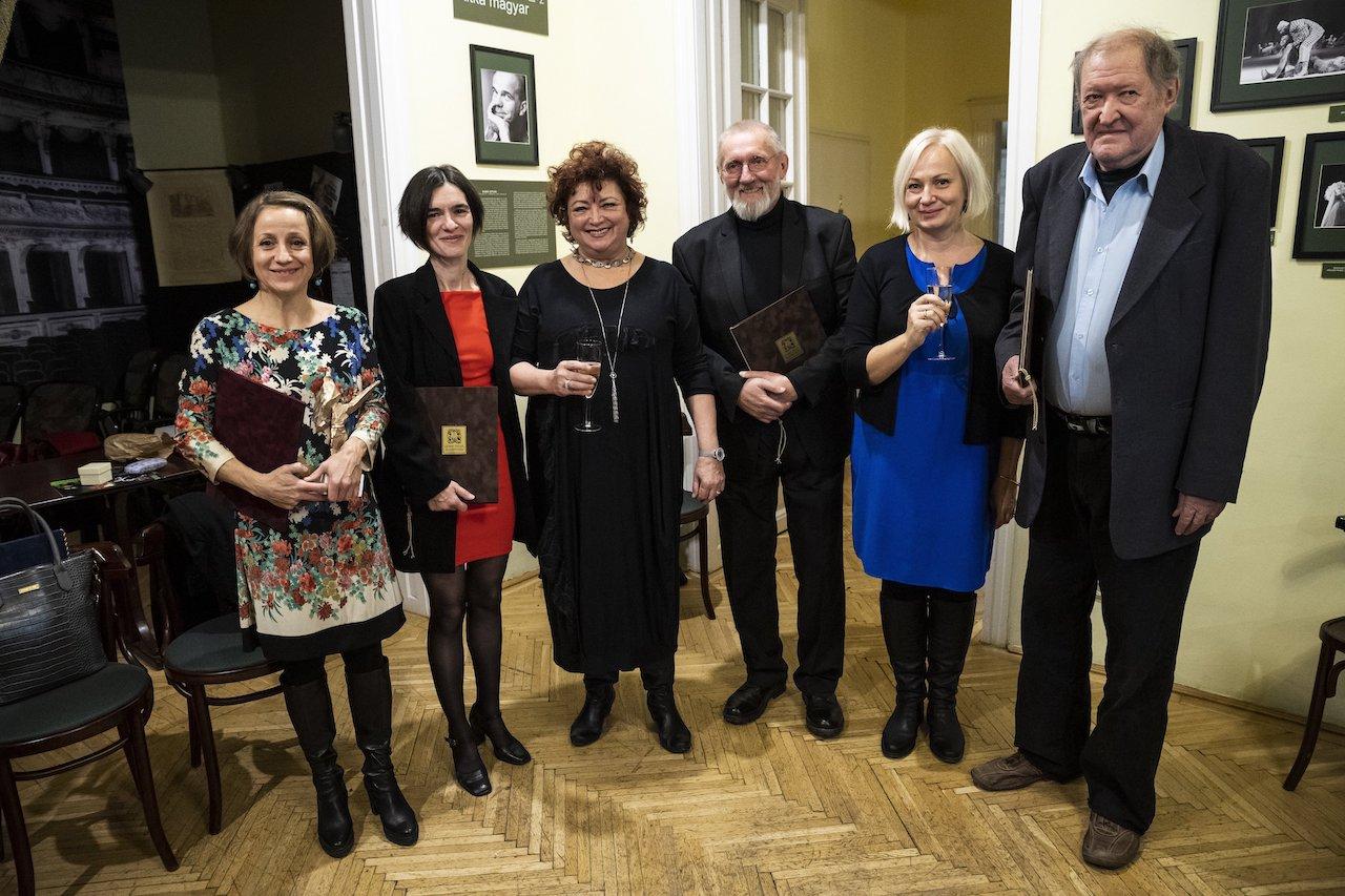 Színházművészeti díjakat adtak át a Bajor Gizi Színészmúzeumban