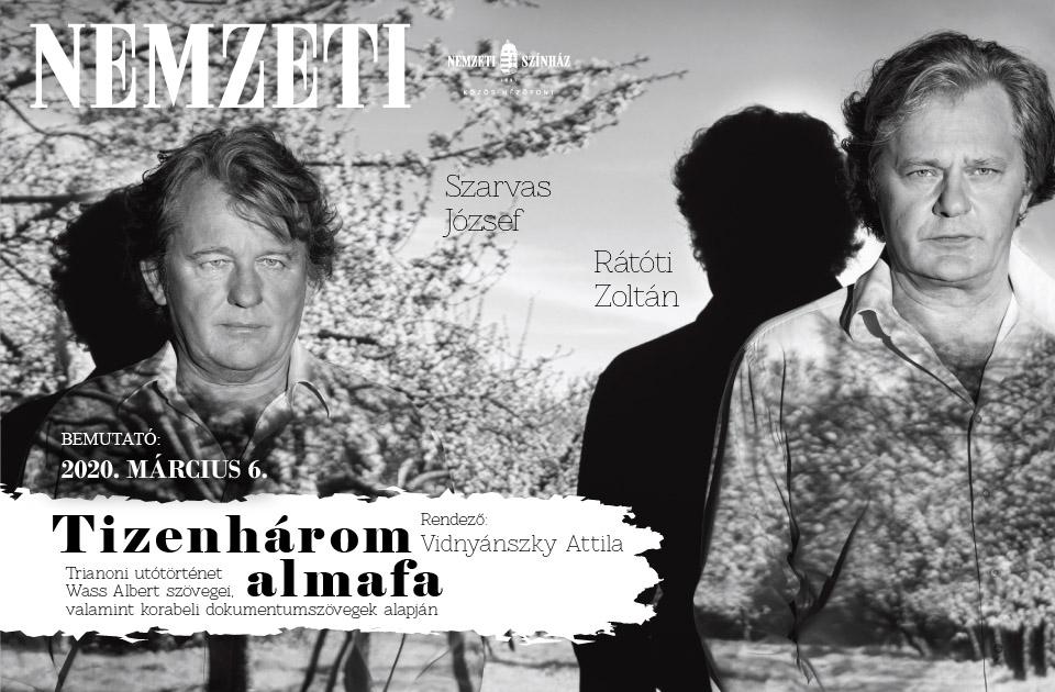 Trianon-évforduló - Tizenhárom almafa címmel tart bemutatót a Nemzeti Színház