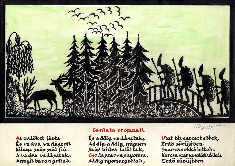 Büky Béla terve a Cantata profana című előadáshoz