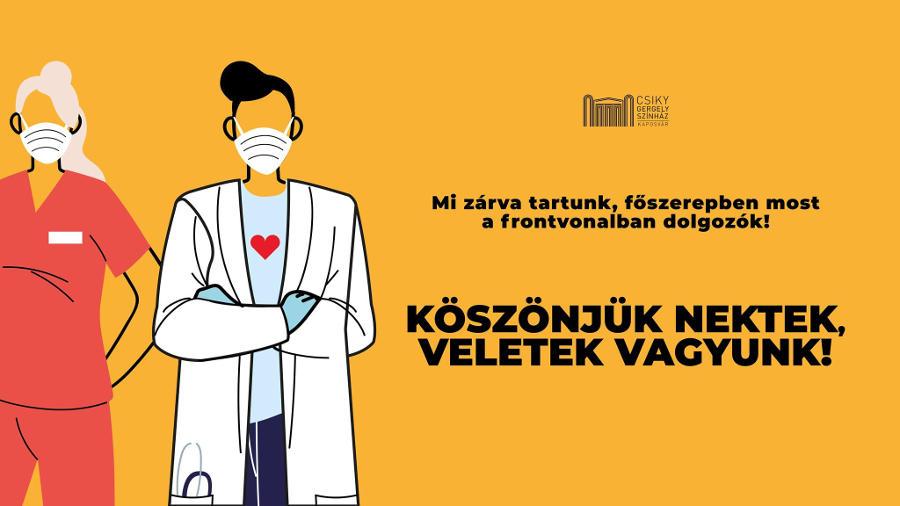 Több mint 70 színház és szervezet csatlakozott a Csiky Gergely Színház kampányához